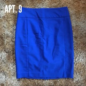 Apt. 9 Blue Pencil Skirt